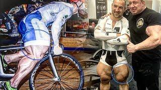 The Cyclist With The Biggest Legs - Most Muscular Cyclist in The World