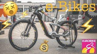 the best e-MOUNTAINBIKES for 2018/2019 in DETAIL from the EUROBIKE [4K]