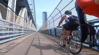 Covid-19 Urban Cycling/Brooklyn Into Manhattan (HD, GoPro)