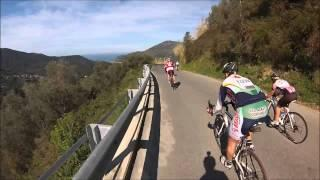 Epic downhill road bike race - 100 overtakes - Granfondo La Spezia - GoPro on board