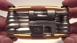 Crankbrothers M19 Folding Multi Bike Tool with Allen Keys and Hex Key Sets