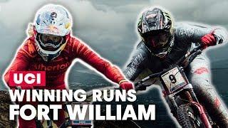 Rachel Atherton & Amaury Pierron Winning DH Runs Fort William | UCI MTB World Cup 2019
