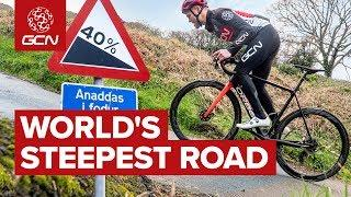 Cycling Up The World's Steepest Road | Wales' Record Breaking Hill
