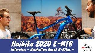 Haibike 2020 - Bosch E-MTB Neuheiten - Interview - | Alles Fahrrad