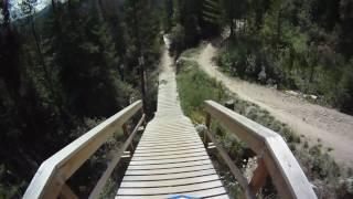 Downhill mountain biking Winter Park Trestle Be All U Can Be Go Pro helmet cam