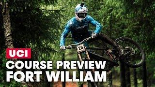 Fort William Water Run! Gee Atherton DH Course Preview | UCI MTB World Cup 2019