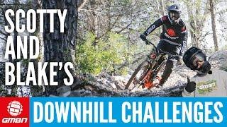 5 Downhill Mountain Bike Challenges: Scotty Vs Blake