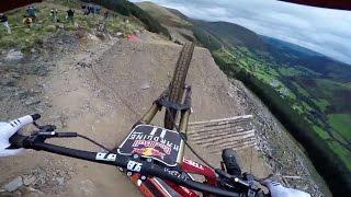 Dan Atherton Sends It Down the Hardline MTB Track   Red Bull Hardline: GoPro View