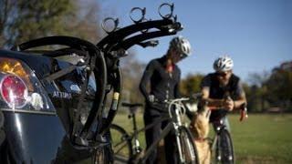 Saris 801BL Bones Black 3 Bike Trunk Mounted Bicycle Rack Video Demonstration