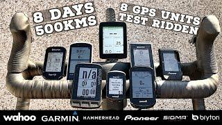 Festive 500 Cycling Computer Road Test // 8 Days // 8 GPS Units Tested