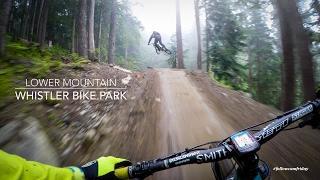 Mountain Biking the lower Whistler Bike Park