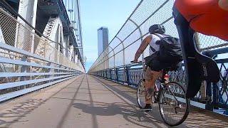 Covid-19 Urban Cycling/Brooklyn Into Manhattan (HD, GoPro)