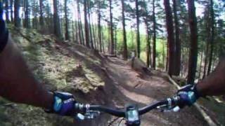 Cannock Chase - Monkey trail best bits (Upper Cliff) with faceplant
